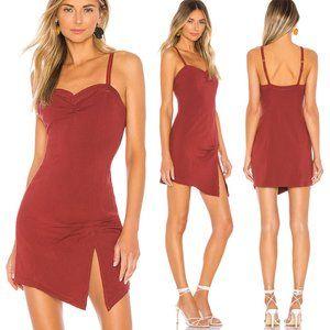 Free People Intimately Monroe Mini Dress Wine $78
